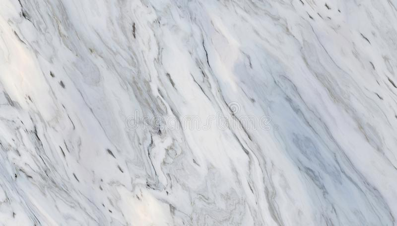 White curly marble. White marble pattern with curly grey and black veins. Abstract texture and background. 2D illustration stock photo