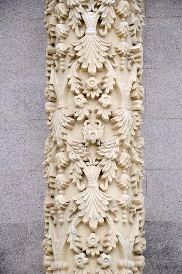 The white marble pillars royalty free stock photos