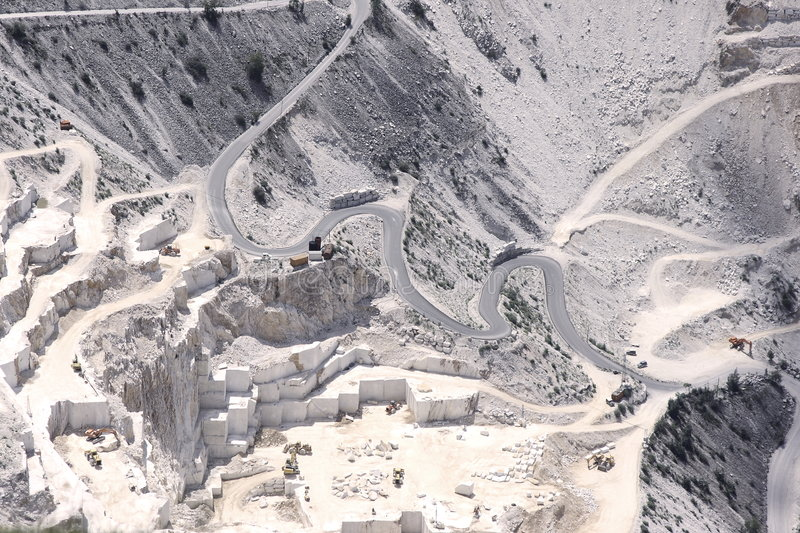 Download White marble quarry stock photo. Image of carrara, digging - 5791312