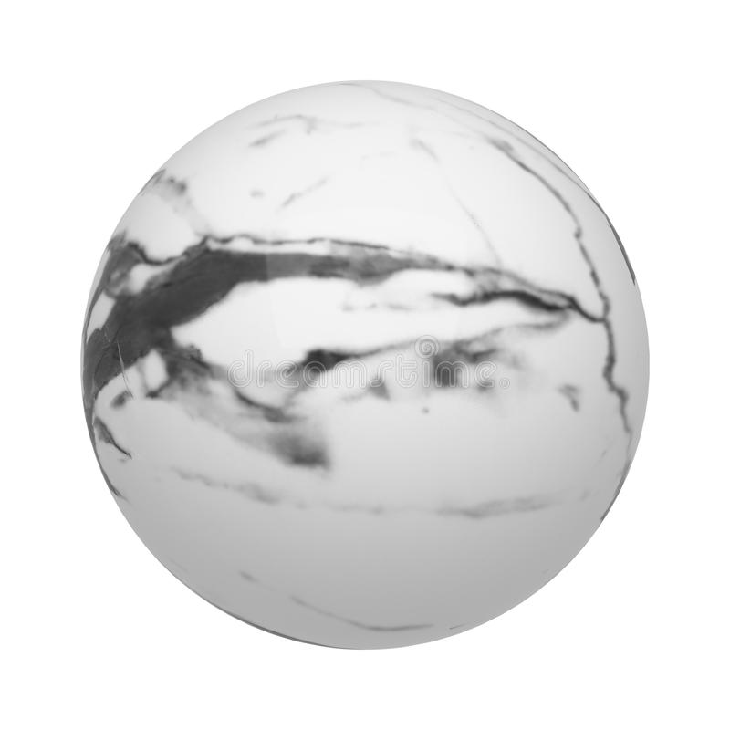 White marble sphere or ball or flooring pattern surface texture. Close-up of interior material for design decoration background royalty free illustration