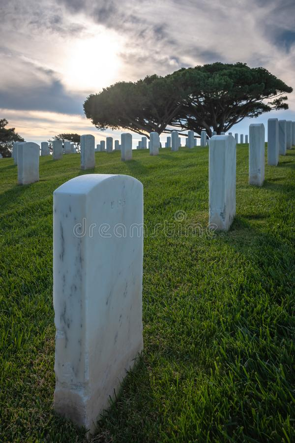 White Marble Stones Ascending Green Grass Covered Hill stock photos
