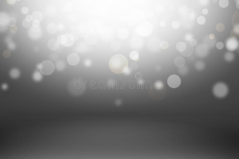white and gray wall and studio room background stock illustration
