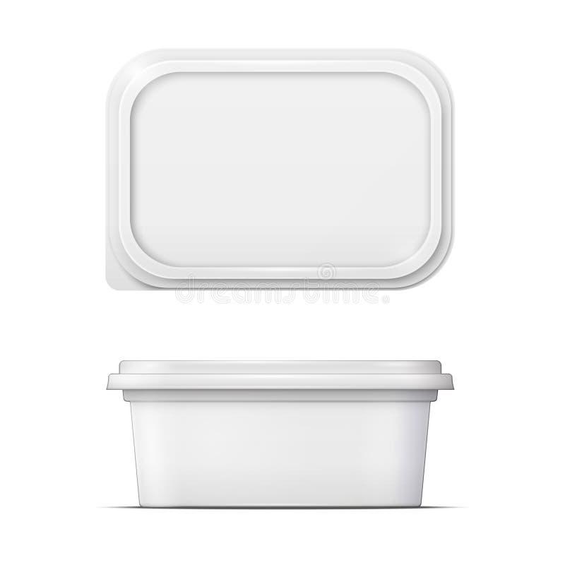Free White Margarine Spread Template. Royalty Free Stock Photos - 47095388