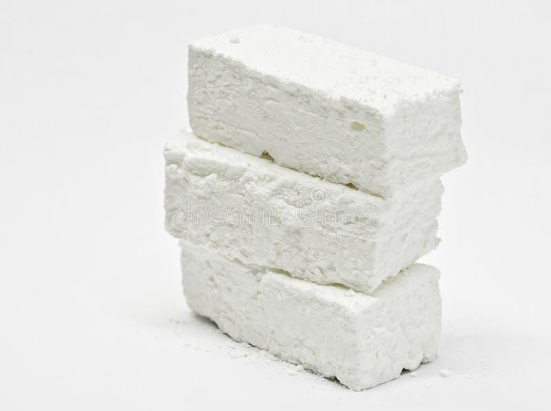 White marshmallow sticks royalty free stock photos