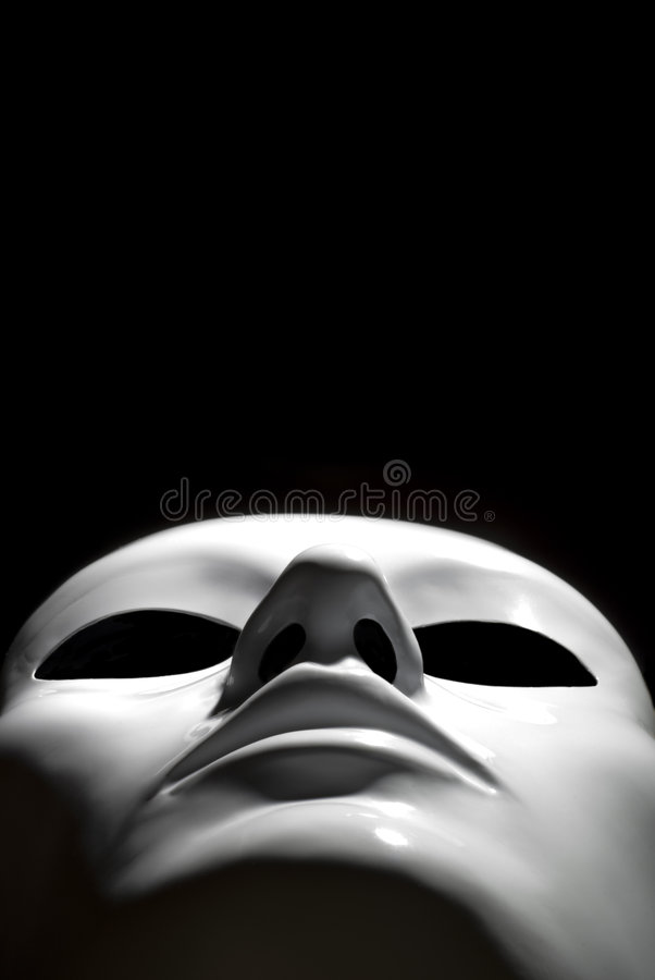 White mask royalty free stock photography