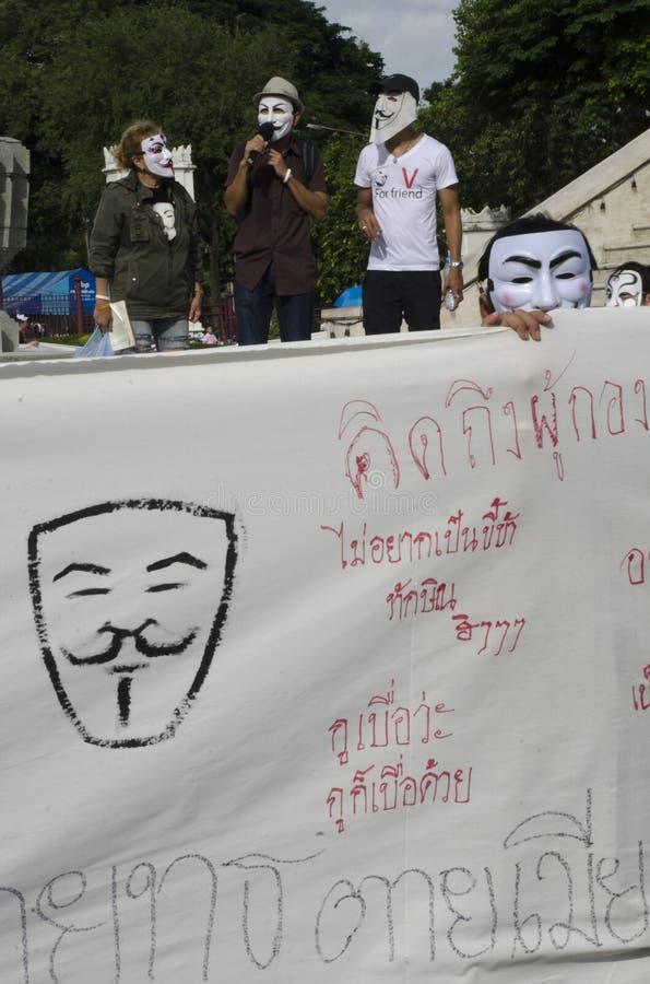 White Mask Movement Rally