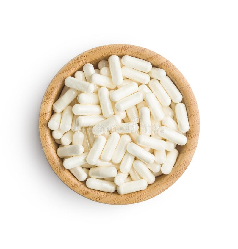 Free White Medicine Capsules. Stock Photo - 116204020