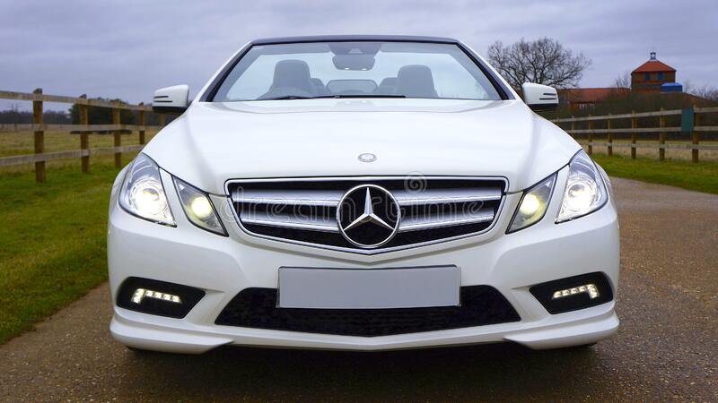 White Mercedes-benz Car royalty free stock images