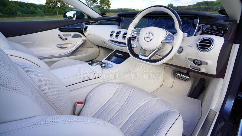 White Mercedes Benz Interior Design Free Public Domain Cc0 Image
