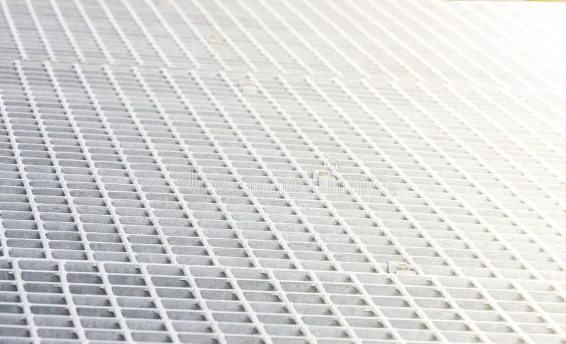 The White metal on hole seamless pattern, background and texture royalty free stock photography