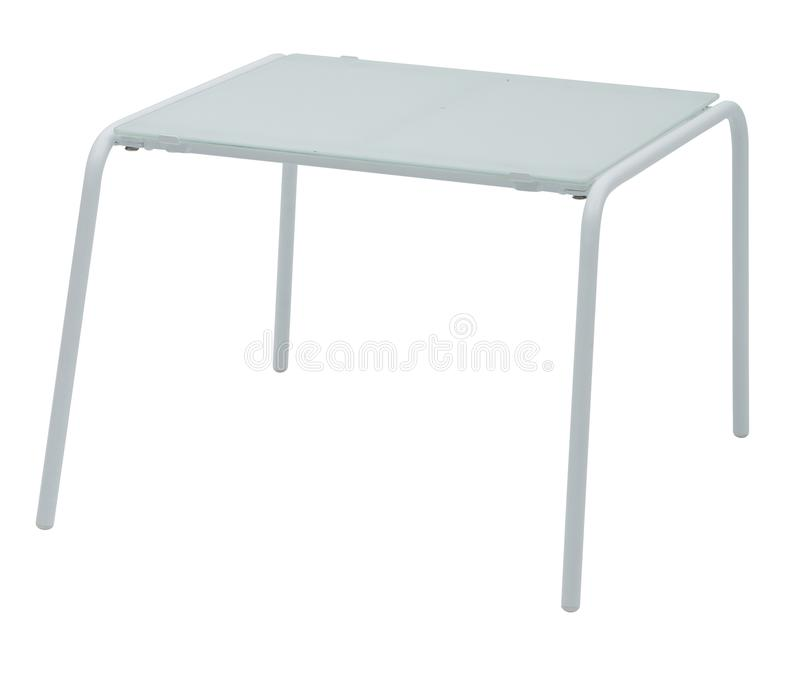 White metal side table in white background royalty free stock images