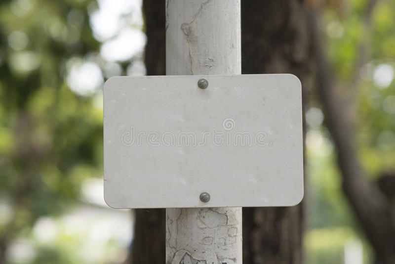 White metal sign blank stock photography