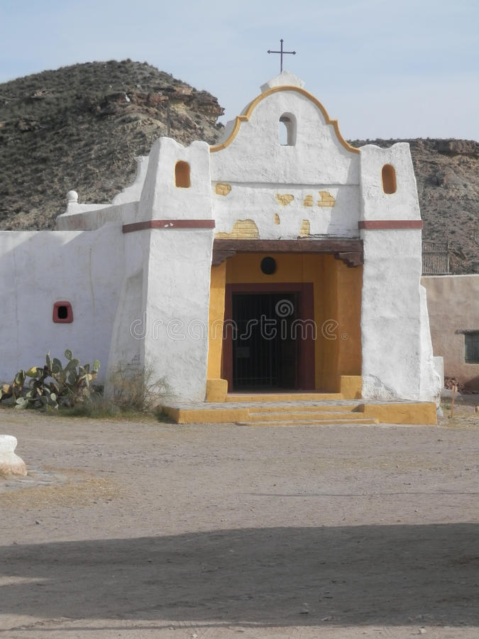 White Mexican Church Buildings royalty free stock photo