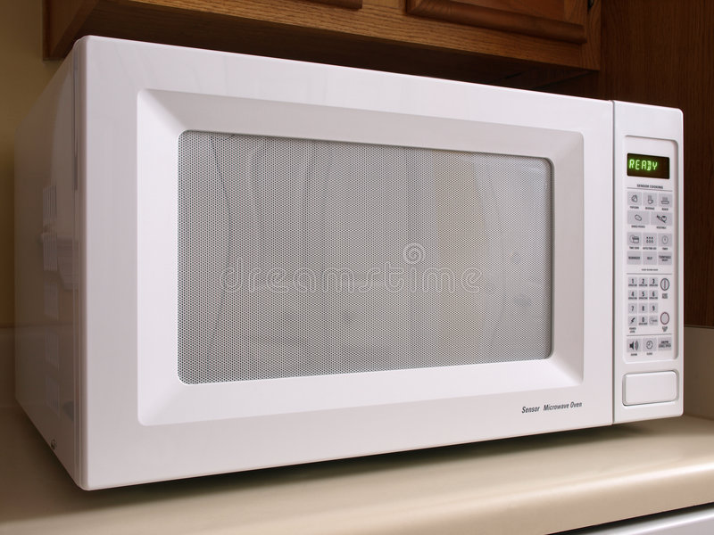 White Microwave Oven Front Stock Photo Image Of Domestic