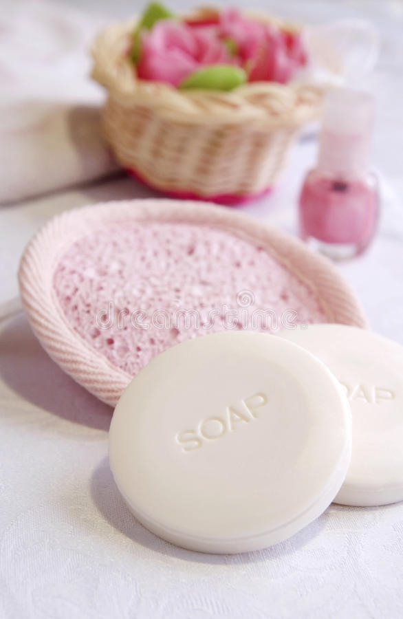 Download White Milk Soaps In A Bathroom Stock Photo - Image: 18258002