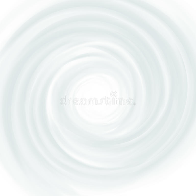 White Milk, Yogurt, Cosmetics Product Swirl Cream Illustration. Mousse Whirlpool And Vortex Background stock illustration