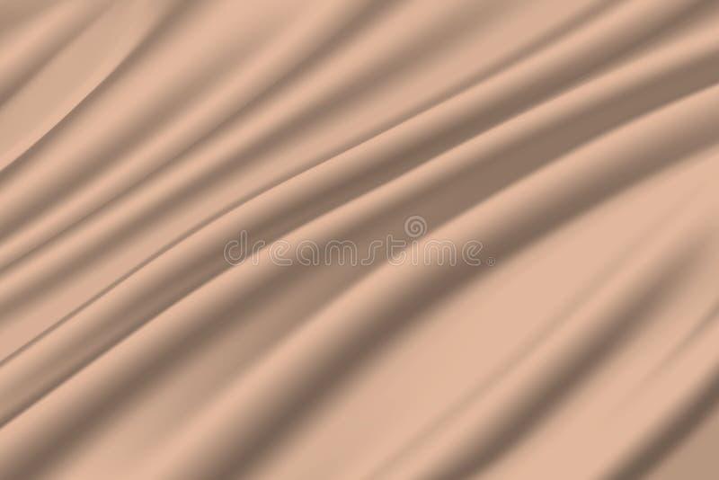 White milky silk. Fabric satin background stock illustration
