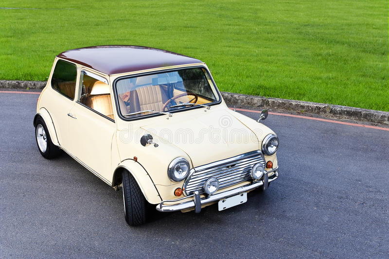 White mini car royalty free stock image