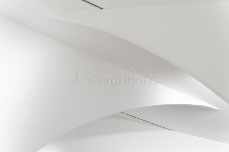 White on white, minimalist and elegant architectural design stock photos