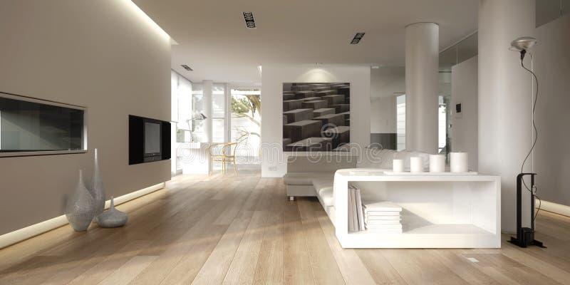 White minimalist interior royalty free illustration