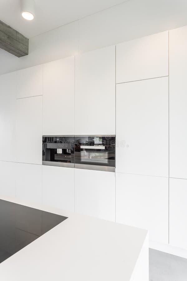 White minimalist kitchen stock photo