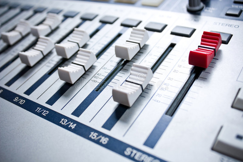 Download White mixer in studio stock photo. Image of lights, console - 6555038