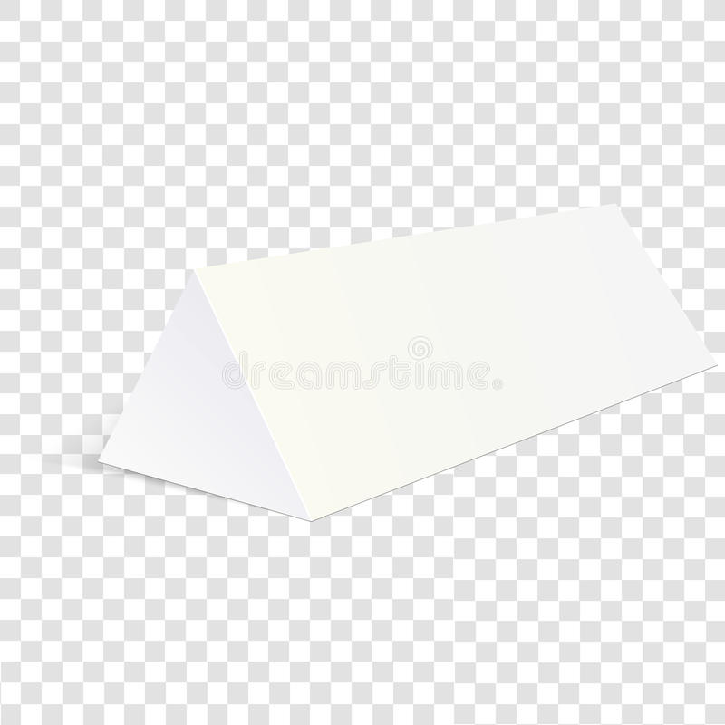 White mock up cardboard triangle box packing for food, gift or other Products. Vector illustration on transparent backgro.  royalty free illustration