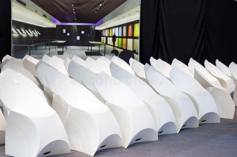White modern chairs royalty free stock photo
