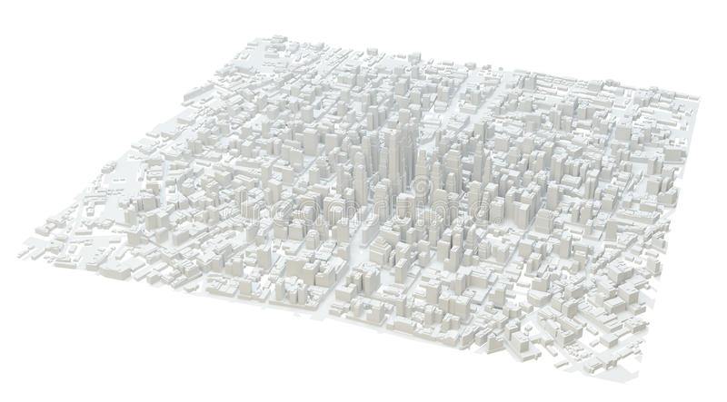 White modern city. Isolated stock photography