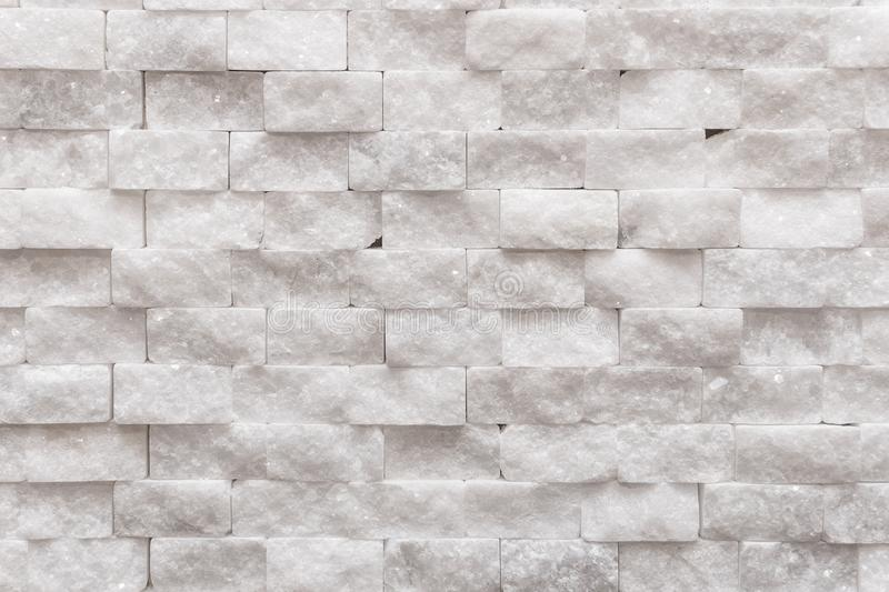 White modern decorative wall small marble brick background texture royalty free stock images