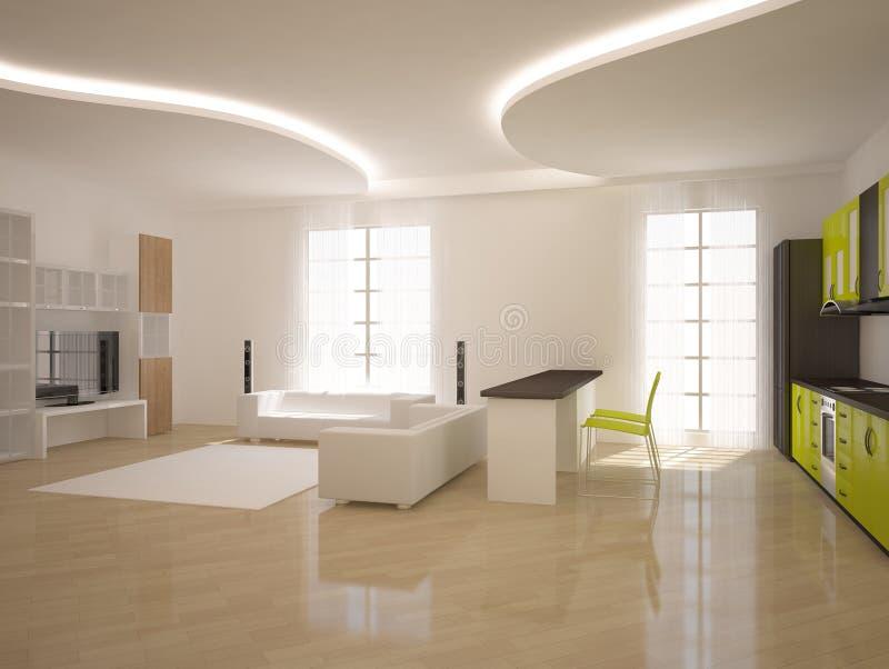 Download White Modern Design Interior Stock Illustration - Image: 18411409