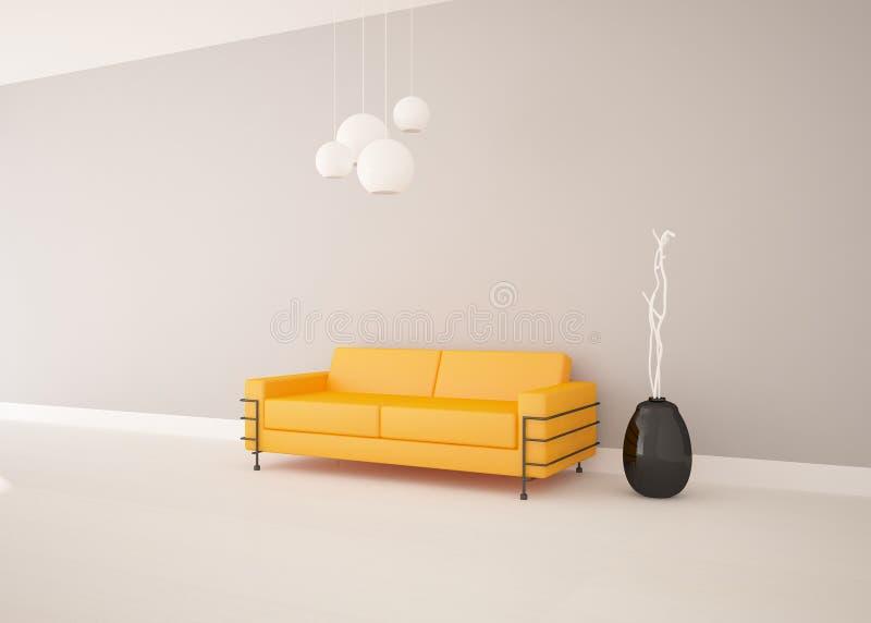 White modern design interior stock illustration