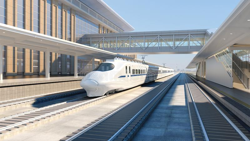 Modern high speed train stock illustration  Illustration of