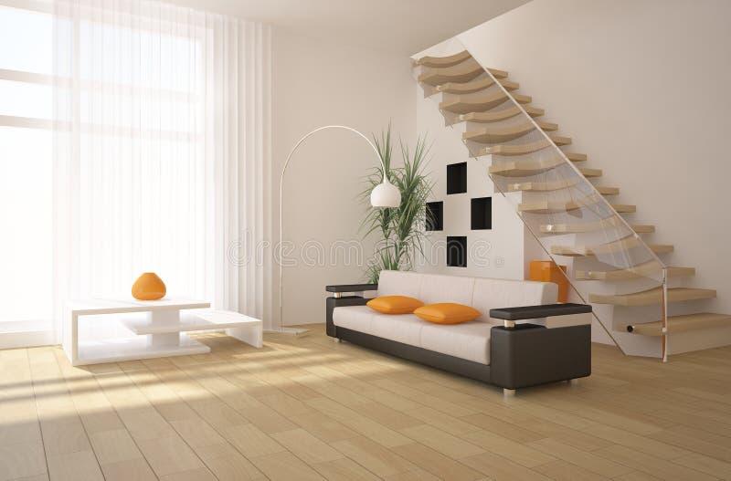 White modern interior royalty free illustration