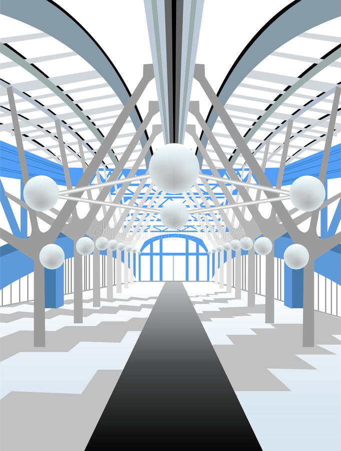 Download White Modern Interior Corridor Stock Vector - Image: 18185850