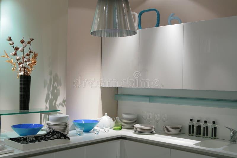 Download White modern kitchen stock photo. Image of ceramic, modern - 4888478