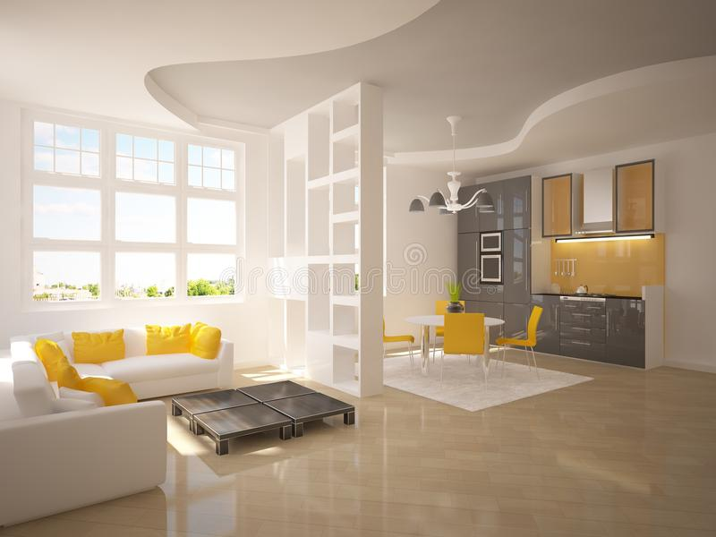 White modern room royalty free illustration