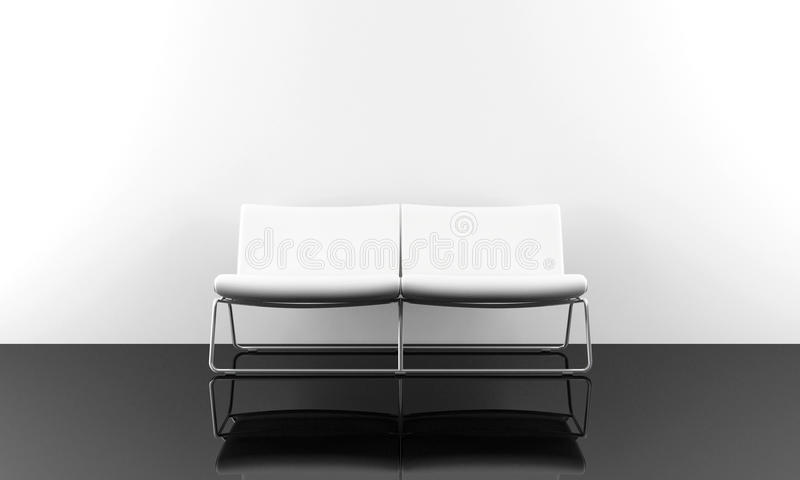 White modern sofa vector illustration