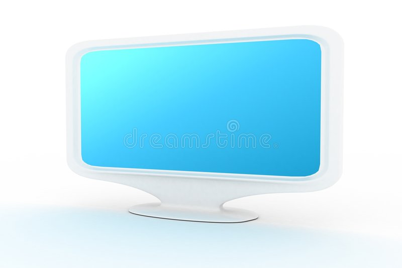 Download White Monitor With Blue Shade 2 Stock Photo - Image: 4878860