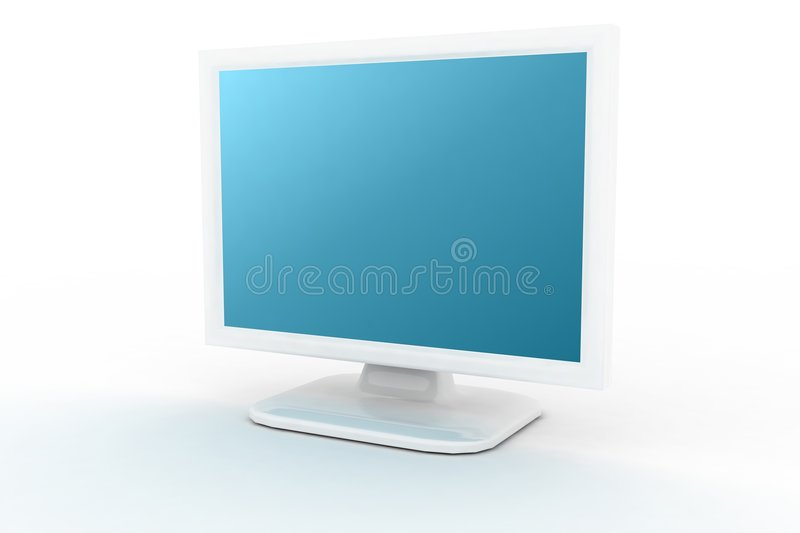 Download White Monitor With Blue Shade Stock Illustration - Image: 3163491
