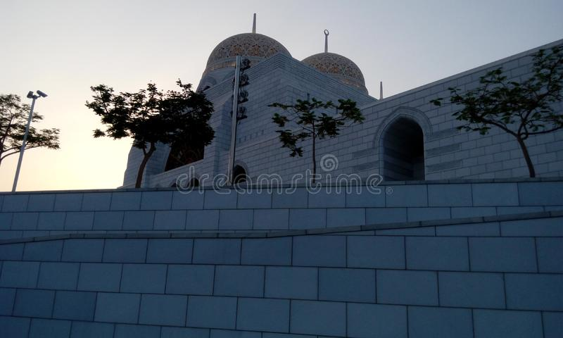 White Mosque images or stock photos for islamic festivals or celebrations like ramadan or eid al fitr stock images