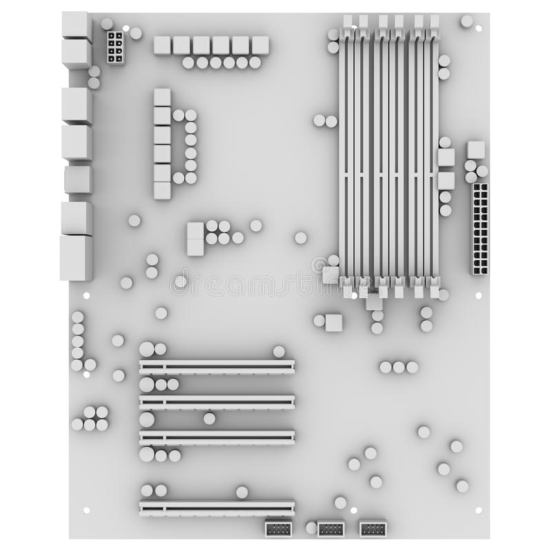 White motherboard