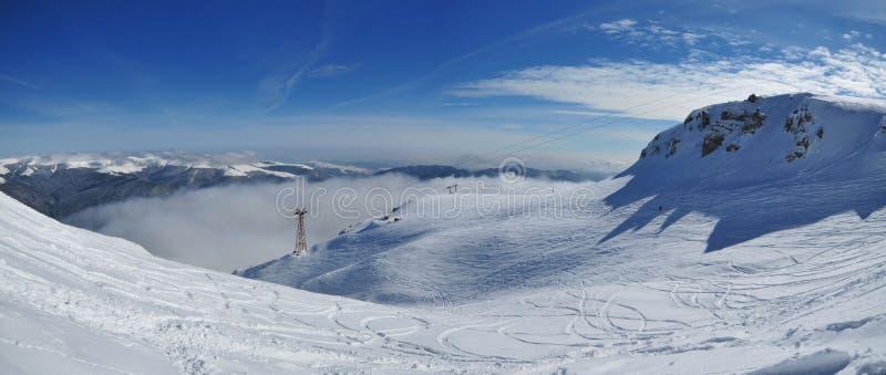 White mountain slope (Bucegi-Romania) royalty free stock photo