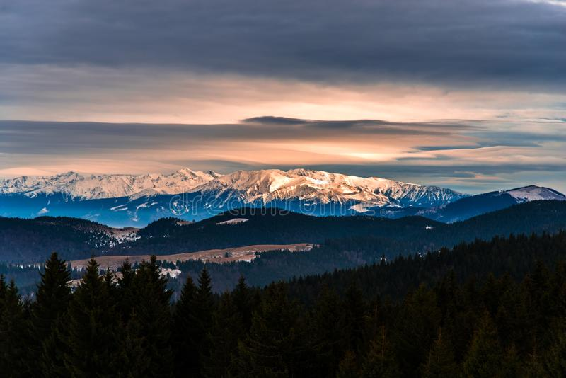 White mountains. The white mountain seen fron a distance royalty free stock photography