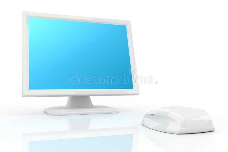 Download White Mouse And White Monitor Royalty Free Stock Photo - Image: 4871285
