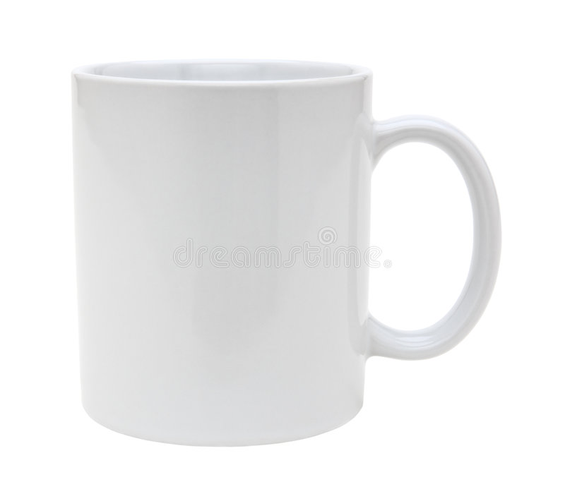 White mug cutout royalty free stock photography