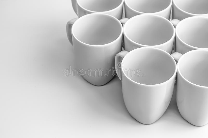 Download White mugs stock image. Image of home, liquid, lunch - 38081467