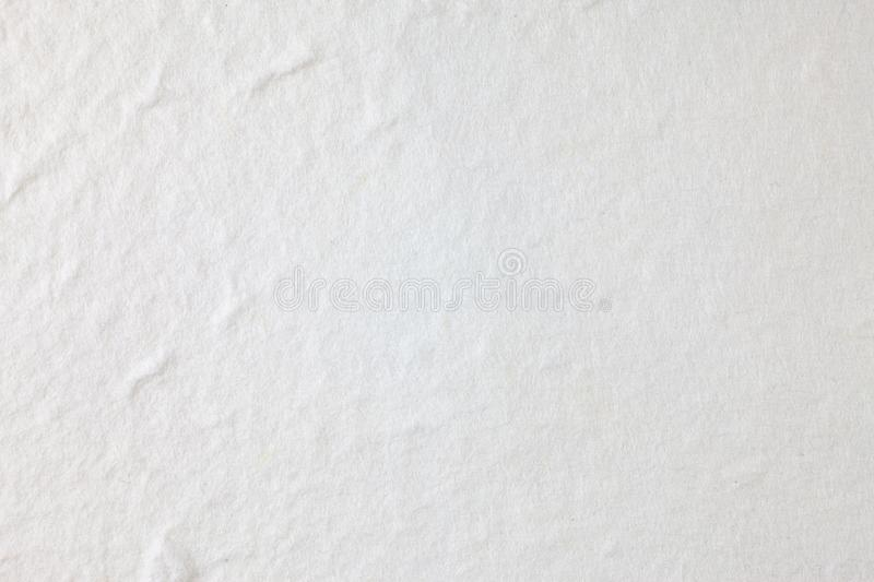 White Mulberry paper background. Abstract, aged, antique, art, beautiful, beauty, blank, brown, cards, color, craft, crumpled, crunch, decorative, design stock photo