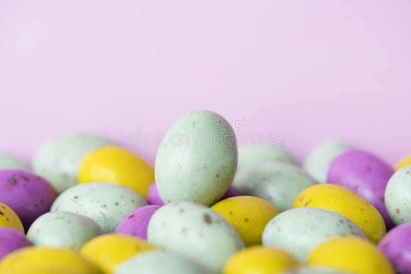 White and Multicolored Egg Lot stock photo