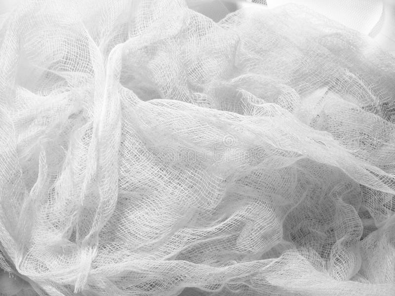 White Muslin royalty free stock photo